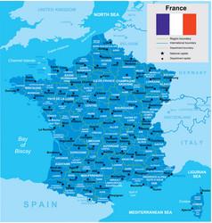 Map france vector