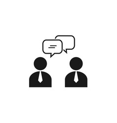 meeting icon design template isolated vector image