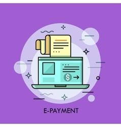 Modern minimal flat thin line e-payment concept vector