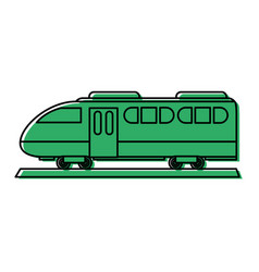 Modern train icon image vector