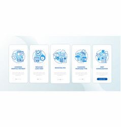 mortgage refinance benefits onboarding mobile app vector image