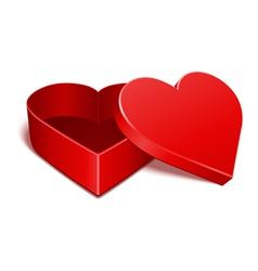 open gift heart vector image