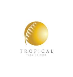 palm leaf logo vector image