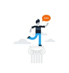 Person speaking with speech bubble vector