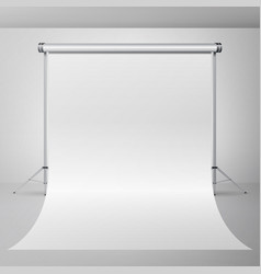 photo studio empty white canvas background vector image