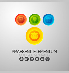 pictogram icons creative background vector image