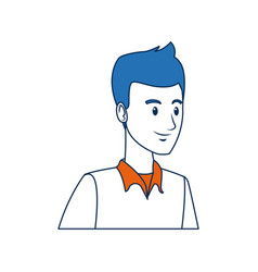 Portrait young guy student person vector
