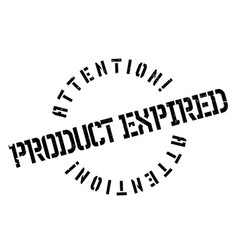 product expired rubber stamp vector image