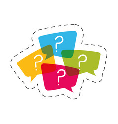 Question mark bubble speech image vector