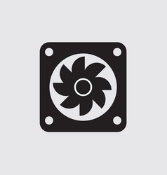radiator fan flat is a part car icon vector image