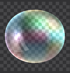 rainbow bubble concept background realistic style vector image
