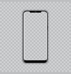 Realistic modern smart phone with transparent vector