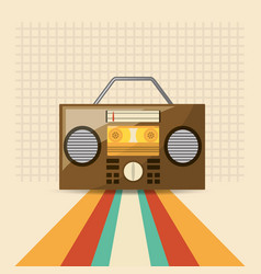Retro music design vector