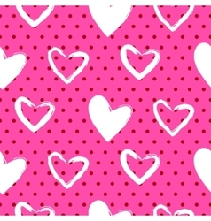 Romantic valentine seamless pattern vector image