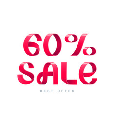 sale 60 percent off vector image