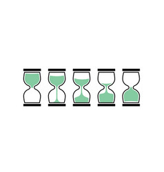 Sand clock time icon hour glass sand watch timer vector