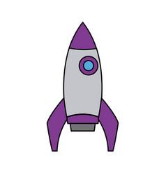 School rocket startup successful education icon vector