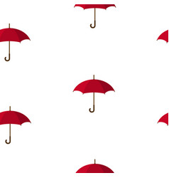 seamless pattern with red umbrellas vector image