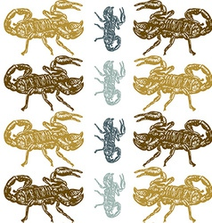 Seamless scorpion pattern vector