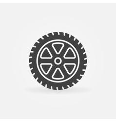 Simple car wheel icon vector image