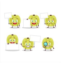 Slice amla character bring information board vector