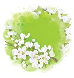 spring banner circkle vector image