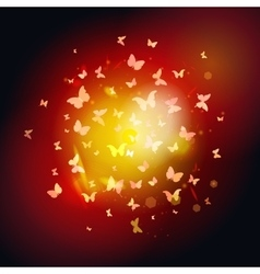 summer butterflies fly to light yellow insects on vector image