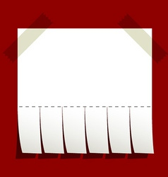 taped blank advertisement paper vector image