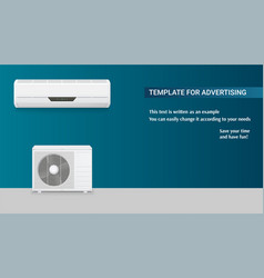 template with air conditioning for advertisement vector image