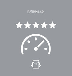 top speed - flat minimal icon vector image