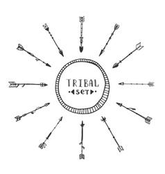 Tribal arrows collection vector