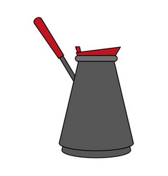 Turkish pot coffee related icon image vector