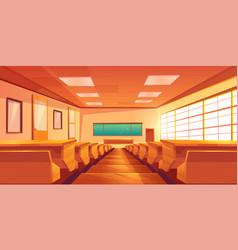University auditorium cartoon interior vector