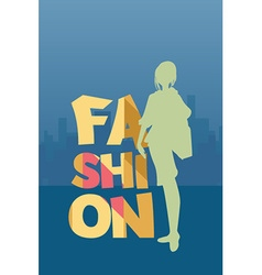With fashion and people vector