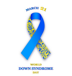 World down syndrome day vector