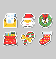 Year icon sticker set isolated vector