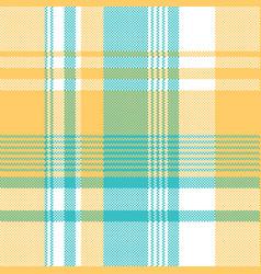 Yellow blue lite color pixel plaid seamless vector
