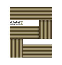 Z - unique alphabet design with basketry pattern vector