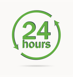 24 hours sign vector image vector image
