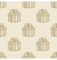 christmas gift box pattern seamless background vector image vector image