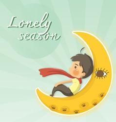 lonely season vector image vector image