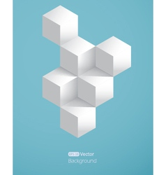 Realistic background with white cubes vector image