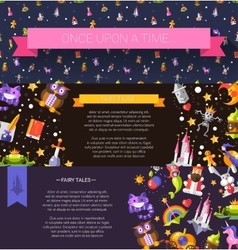 Set of modern flat design fairy tales and magic vector image vector image