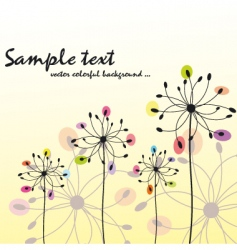 spring summer floral greeting card vector image