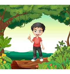 A boy in the nature vector image vector image