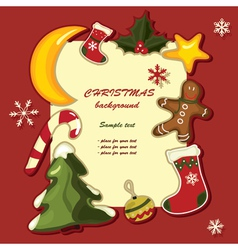 christmas background greeting card vector image vector image
