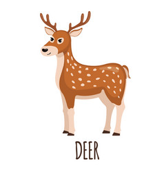 cute deer in flat style vector image vector image
