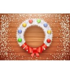Green christmas wreath vector image vector image