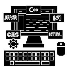 programming - coding - wed developer icon vector image