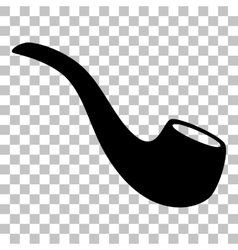 Smoke pipe sign Flat style black icon on vector image vector image